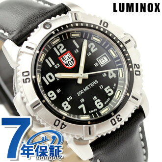 Lumi Knox LUMINOX navy Shields color mark series watch Lady's leather belt black 7251