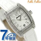 フォリフォリ Folli Follie 腕時計 レディース ジルコニア シルバー×ホワイト S922ZI-SLV-WHT【あす楽対応】