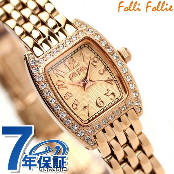 フォリフォリ Folli Follie 腕時計 レディース ジルコニア ピンクゴールド WF5R142BPP [新品][7年保証][送料無料]