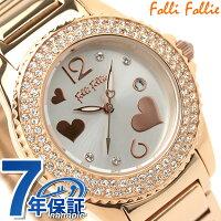 Follieフォリフォリ腕時計レディースジルコニアシルバー×ピンクゴールドWF9B049BTS