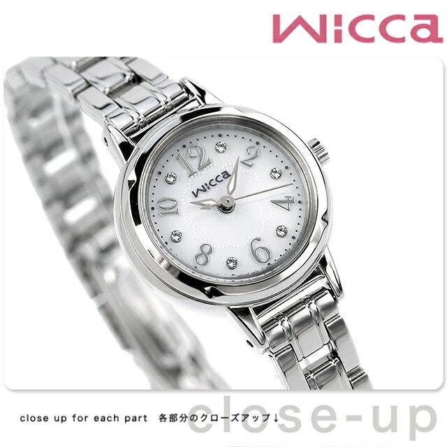 【ノベルティ キャンドル付き♪】シチズン ウィッカ ソーラー レディース 腕時計 KH9-914-15 CITIZEN wicca シルバー【あす楽対応】