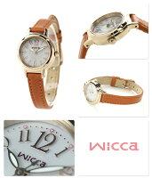 シチズンウィッカソーラーレディース腕時計KH9-922-12CITIZENwiccaシルバー×ブラウンレザーベルト