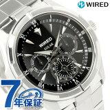 セイコー ワイアード ソーラー マルチカレンダー メンズ 腕時計 AGAD032 SEIKO WIRED ブラック【あす楽対応】 P19May15
