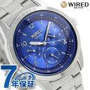 楽天腕時計のななぷれ【クオカード付き♪】セイコー ワイアード ペアスタイル ソーラー メンズ 腕時計 AGAD081 SEIKO WIRED ブルー