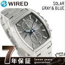 セイコー ワイアード グレー&ブルー ソーラー クロノグラフ AGAD085 SEIKO WIRED 腕時計