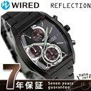 セイコー ワイアード ニューリフレクション クロノグラフ AGAV126 SEIKO WIRED 腕時計 オールブラック