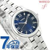 セイコー ワイアード エフ ペアスタイル レディース 腕時計 AGEK423 SEIKO WIRED f ネイビー【あす楽対応】