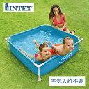 【INTEX インテックス】ミニフレームプール【ブルー 2017年モデル 122×122×30cm】