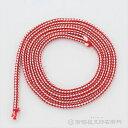 お神輿の飾り紐に鈴を付ける際に、使用します。 こちらの紐は太さが6mmで、主にお神輿の台輪寸法が1尺8寸(54cm)〜2尺(60cm)の鈴に使用します。 ・サイズ 太さ6mm 長さ100cm ・素材 人絹製 ・1セット 16本入 ※3枚目・4枚目の画像に載っております神輿用鈴紐以外の品は附属しておりません。神輿用鈴紐の使用例ですので、ご了承下さい。 ※紐の長さが長い場合は飾り紐に巻き付ける回数を増やして調整して下さい。 ※両端は紐がほつれないように瞬間接着剤で加工いたします。
