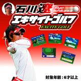 【家族みんなで!】TVにつなぐだけですぐ遊べる本格ゴルフゲーム!アプローチ練習にも!【即納】 石川遼 エキサイトゴルフ!