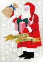 6895 巨大ウィンドウシール Window Seal Happy Merry Christmas! 再剥離可能 両面印刷 透明シール 素材:ゲルポリ サイズ:W1100mm×H1600mm ※お取寄商品