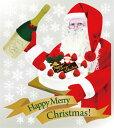 6896 巨大ウィンドウシール Window Seal Happy Merry Christmas! 再剥離可能 両面印刷 透明シール 素材:ゲルポリ サイズ:W800mm×H900mm ※お取寄商品