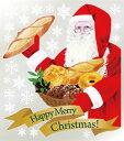 6897 巨大ウィンドウシール Window Seal Happy Merry Christmas! 再剥離可能 両面印刷 透明シール 素材:ゲルポリ サイズ:W800mm×H900mm ※お取寄商品