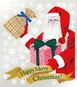 6898 巨大ウィンドウシール Window Seal Happy Merry Christmas! 再剥離可能 両面印刷 透明シール 素材:ゲルポリ サイズ:W800mm×H900mm ※お取寄商品