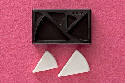 ミニ型抜き(粘土型) ケーキ(三角型)