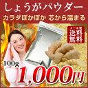 【1000円ポッキリ】国産 生姜パウダー100g しょうが 粉末 高知県産 土佐一100% ジンジャーパウダー ショウガオール …