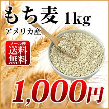 もち麦1kgメール便送料無料
