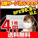 マスク 婦人・子供用プリーツマスク【77%OFF】【メール便送料無料】【使い捨てサージカルマスク】