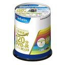 三菱化学メディア DVD-R(Video) 1回録画用 120分 1-16倍速 100枚スピンドルケース 100P(ホワイト)(VHR12JP100V4) 目安在庫=○