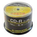 グリーンハウス CD-R データ用 700MB 1-52倍速 50枚スピンドル インクジェット対応(GH-CDRDA50) 目安在庫=△