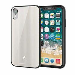 エレコム iPhone XR/ハイブリッドケース/ガラス/背面