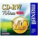 maxell CD-RW・1-4倍速対応・容量700MB・1枚パック・1枚ずつプラケース入り(CDRW80MQ.S1P) 目安在庫=○