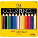 トンボ鉛筆 缶入色鉛筆 24色 NQ CB-NQ24C 目安在庫=○[メール便対象商品]【0824楽天カード分割】