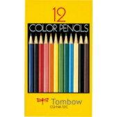 トンボ鉛筆 色鉛筆 紙箱 12色 NA CQ-NA12C 目安在庫=○[メール便対象商品]