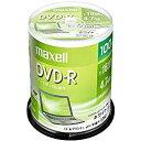 maxell データ用DVD-R 4.7GB 1-16倍速 プリンタブルホワイト 100枚スピンドルケース(DR47PWE.100SP) 目安在庫=○