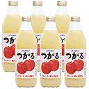 水, 飲料 - JAアオレン 青森の味!りんごジュース つがる 瓶 1000ml【6本】(-)