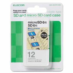 為記憶卡 / 索引裝載 SD 6 + microSD 6 板股票製造商和白色 (CMC-SDCPP12WH)