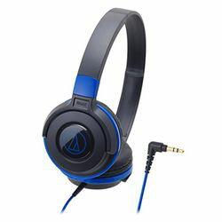 鐵三角可擕式耳機黑藍色 ATH S100 桶估計的存貨 =-