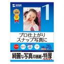 サンワサプライ インクジェット写真印画紙・特厚 JP-EP2NA4 メーカー在庫品