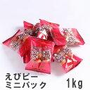 えびピーミニパック1kg 南風堂 業務用大袋 海老風味の小粒落花生豆菓子 塩味 個包装タイプ