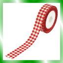 【ポイント3倍♪】【小堀リボン】 リボン Sギンガムチェック赤22mm×23m NO.1100アカ