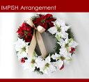 ポインセチア クリスマスリース 造花 40cm リース インテリア おしゃれ 壁掛け リース アーティフィシャルフラワー