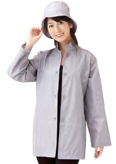 Silk standing collar short coat hat set / rainwear