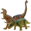 ビニールモデル人気恐竜3体セット (FDS-0002)