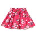 ピューピルハウス(Pupil House)花総柄ボリューム裏毛スカート