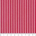 ストライプ 3.5ミリ 5450-70 レッド ストライプボーダー 縞 入園入学 赤 10cm単位 やや厚手 生成りオックス生地 綿100% 110cm 布 レ..