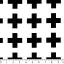選べる十字柄 cross-bk01 BLACK ブラック 6つの大きさ cross 白黒 モノトーン 生地 北欧風 布  綿100% 晒しオックス生地 雑貨 1...