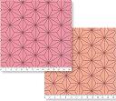 麻の葉柄 AL0410 ピンク M・S・SS 110cm幅 個数1で10cm単位 30cm以上で販売 布 和柄 27.ライトサーモンピンク 38.ローズピンク鬼滅の刃 禰豆子の着物柄 27.light salmon pink 38.rose pink 商用利用可 晒しオックス 生地 綿100%