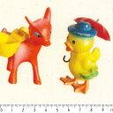 ひよことロバプリント 8847-gh かわいい おもちゃ柄 生地 昭和レトロ カルトナージュや手作り小物にぴったりです。入園入学 生成りオックス使用