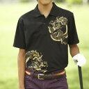 運動用品, 戶外用品 - [BURAI GOLF] ブライ・ゴルフ 龍図ポロシャツ BG−SP015
