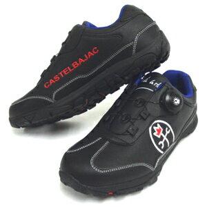JC de CASTELBAJAC  カステルバジャック スポーツ 合皮スパイクスニーカー  CBK006 ブラック 軟らかい(軟らかい)