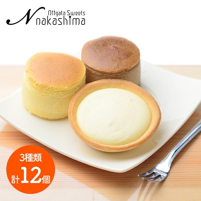 送料無料ナカシマチーズとショコラのスフレとタルトセット大糸チーズ6個半熟ショコラ3個淡雪チーズタルト