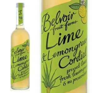 Belvoir Fruit Farms ビーバーフルーツファーム 有機JAS認証 オーガニック ハーブコーディアル ライム&レモングラス 500ml 宅配便B