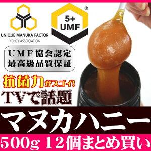 UMF5+�ޥ̥��ϥˡ�500g×12�ĥ��åȡ�����̵����ŷ��ǰ��ͤ�ĩ���ӥ塼��ŵͭŷ��˪̪�ޥ̥�UMF5+ʬ�Ͻ��դ��Ϥ��ߤĥϥ��ߥĥ˥塼�������ɡ�RCP��