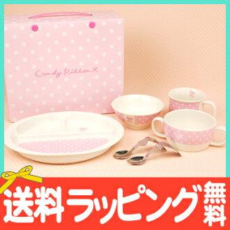 第一次在廚房 6 點集的日本嬰兒廚房兒童餐具陶瓷馬拉松 10P06May15 CandyRibbon (糖果絲帶)