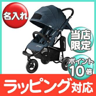 空氣的傢伙正常店空氣的傢伙可哥標準 AirBuggy 可哥標準 BK (氣囊巧克力標準) 靛藍灰色童車 / 車 / 三輪嬰兒推車嬰兒推車 / 類型